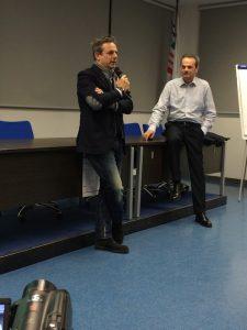 Armando Pintus con Fabio Perego, ex Azzurro e Campione Italiano di Ciclismo su Pista – Come Direttore Sportivo ha vinto alcuni titoli Italiani e un mondiale