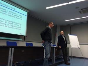 Giuseppe Righini con Renato Redaelli, reparatore atletico di Portieri di calcio