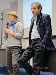 Lilli Ferri e Armando Pintus durante un momento della Conferenza di Milano alla Scuola dello Sport del CONI Lombardia