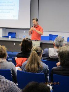 Alberto Ballarin durante un momento della Conferenza di Milano alla Scuola dello Sport del CONI Lombardia